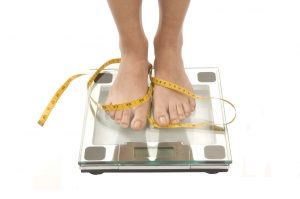 weightloss feet on scale