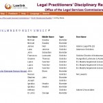 OLSC-legal-Practitioners-Disciplinary-Register