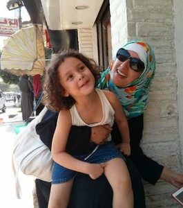 Amaal Yasmit Finn with Zareen.