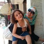Amaal Yasmit Finn with Zareen.