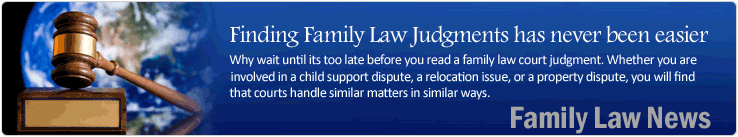finding family law judgments