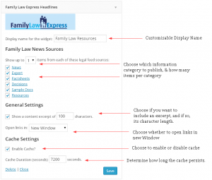Family Law Express Headlines Plugin widget