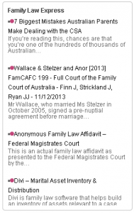 family law express headlines plugin widget display sample 1