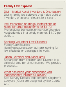 family law express headlines plugin widget display sample 2